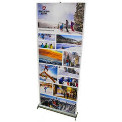 Premium Jiffy Screen Retractable Banner Stand With Fabric Graphic - Godfrey Group