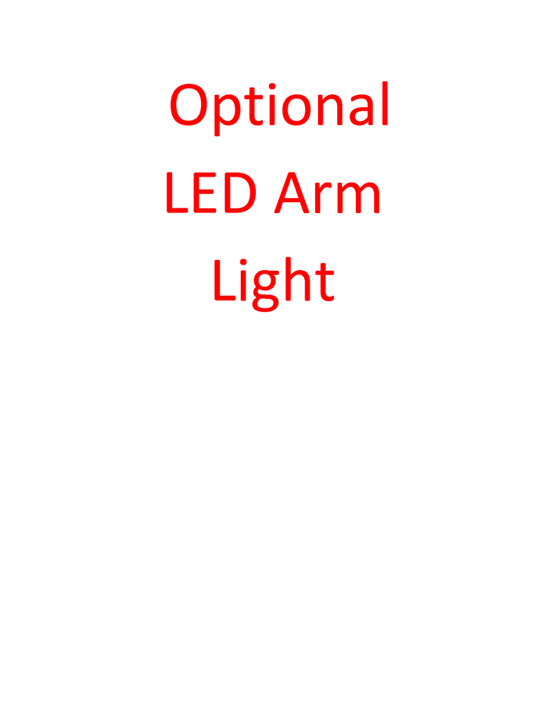 Optional LED arm light - Godfrey Group