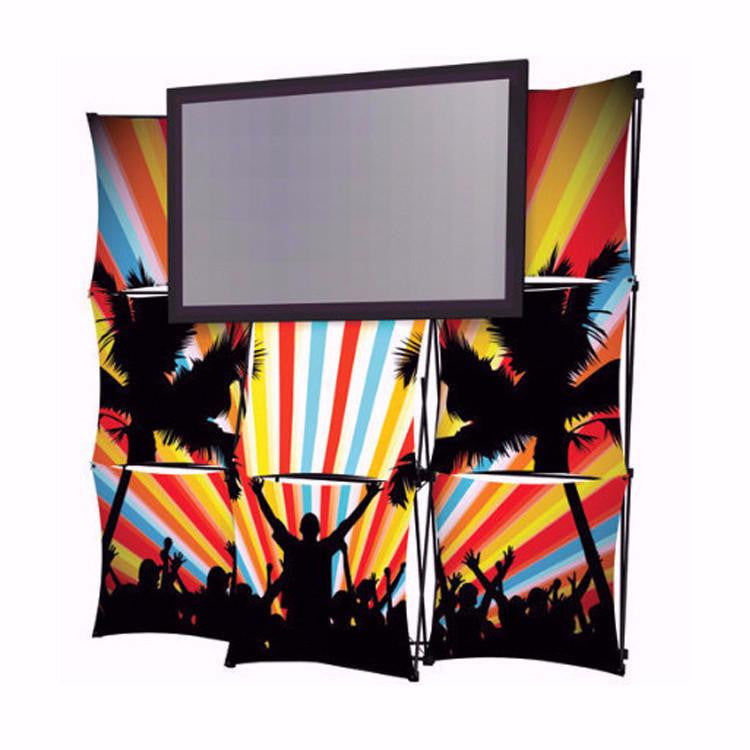 8' Montage Pop Up Monitor Display, Side View