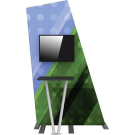 Monitor Kiosk With Full Color Graphic and Angled Frame - Godfrey Group