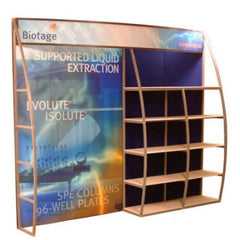 8' OutRigger Shelf Display, Side View