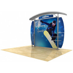 10' Modular Hybrid Display With Arch Top & Oval Sides - Godfrey Group
