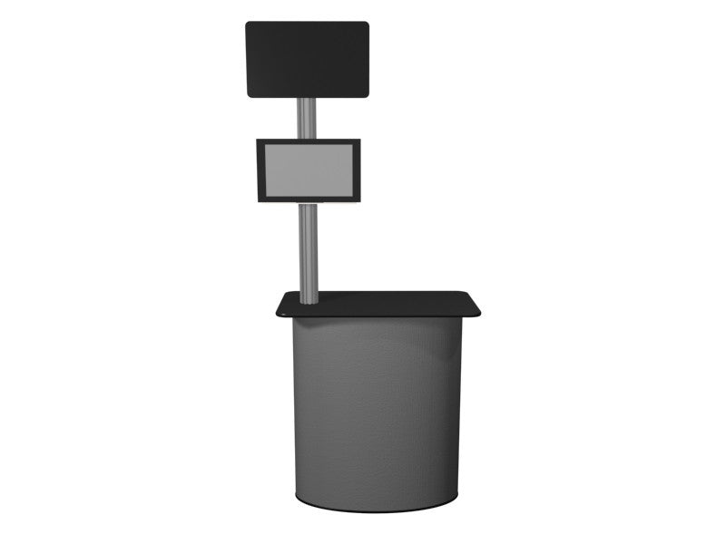 Monitor kiosk with pedestal base - Godfrey Group