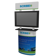 Monitor kiosk with pedestal base for 42