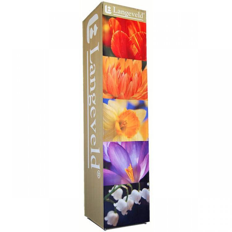 Square Tower,  with four full color fabric graphics (12' or 8'h) - Godfrey Group