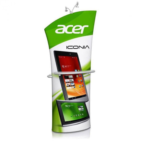 Stretch fabric banner stand