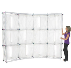 10' Fabric Pop Up Backlit Curve Wall - Godfrey Group