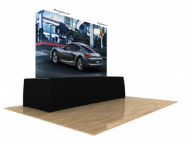 8'w Fabric Pop Up Display Package - full view