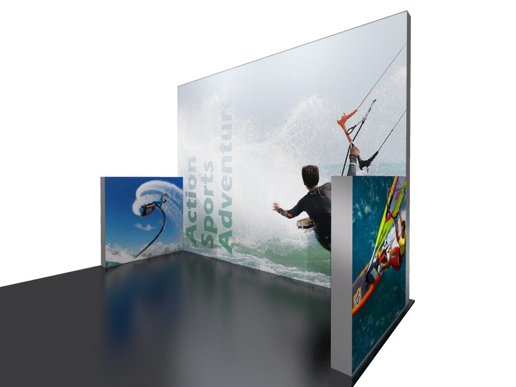 Backlit 10x10 Display With Sidewalls