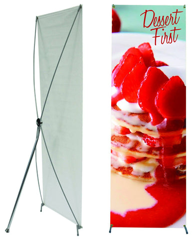 "Tripod Banner Stand, 31"".5""w x 79""h"