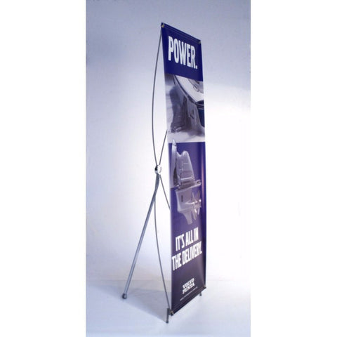 "Tripod Banner Stand, 24""w x 71""h"