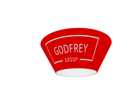 Tapered Round Hanging Sign, 12'd x 5'h - Godfrey Group
