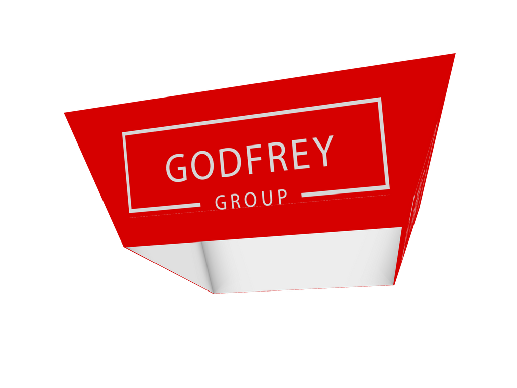 Tapered Square Hanging Sign, 12' x 5'h - Godfrey Group