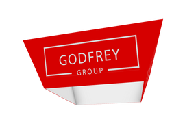 Tapered Square Hanging Sign, 14' x 5'h - Godfrey Group