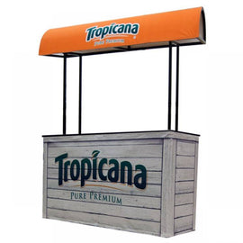 6' Wide Vendor Stand, Orange