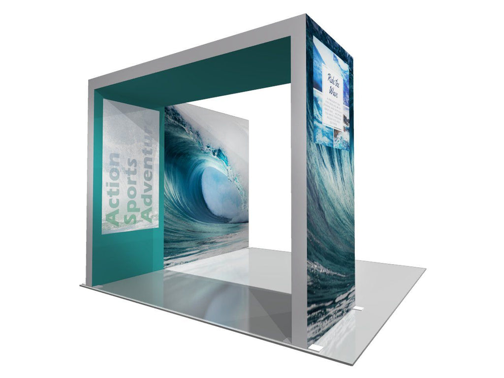 Backlit 10x10 Display With Archway