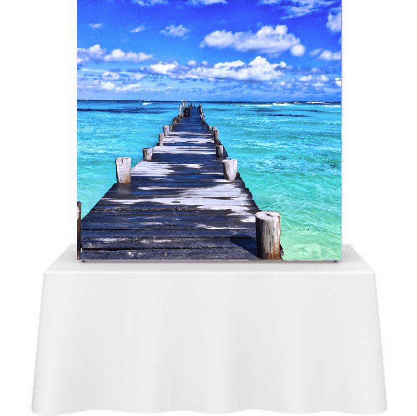 Backlit Pop Up Table Top Display