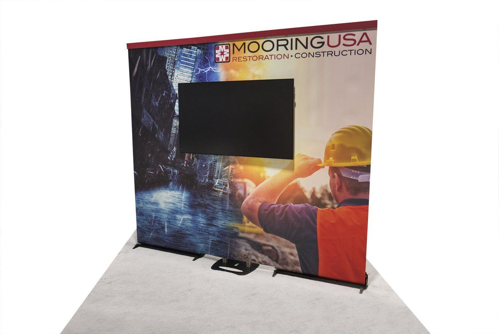 Back Wall Banner Stand With Monitor Mount