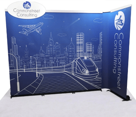 Back Wall Corner Banner Stand