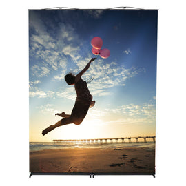 Back Wall Banner Stand - sunrise graphic