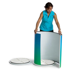 Round Pedestal Counter With Full Graphic Wrap