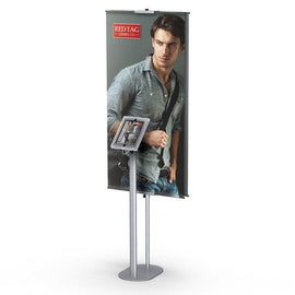 Combo iPad stand and banner stand