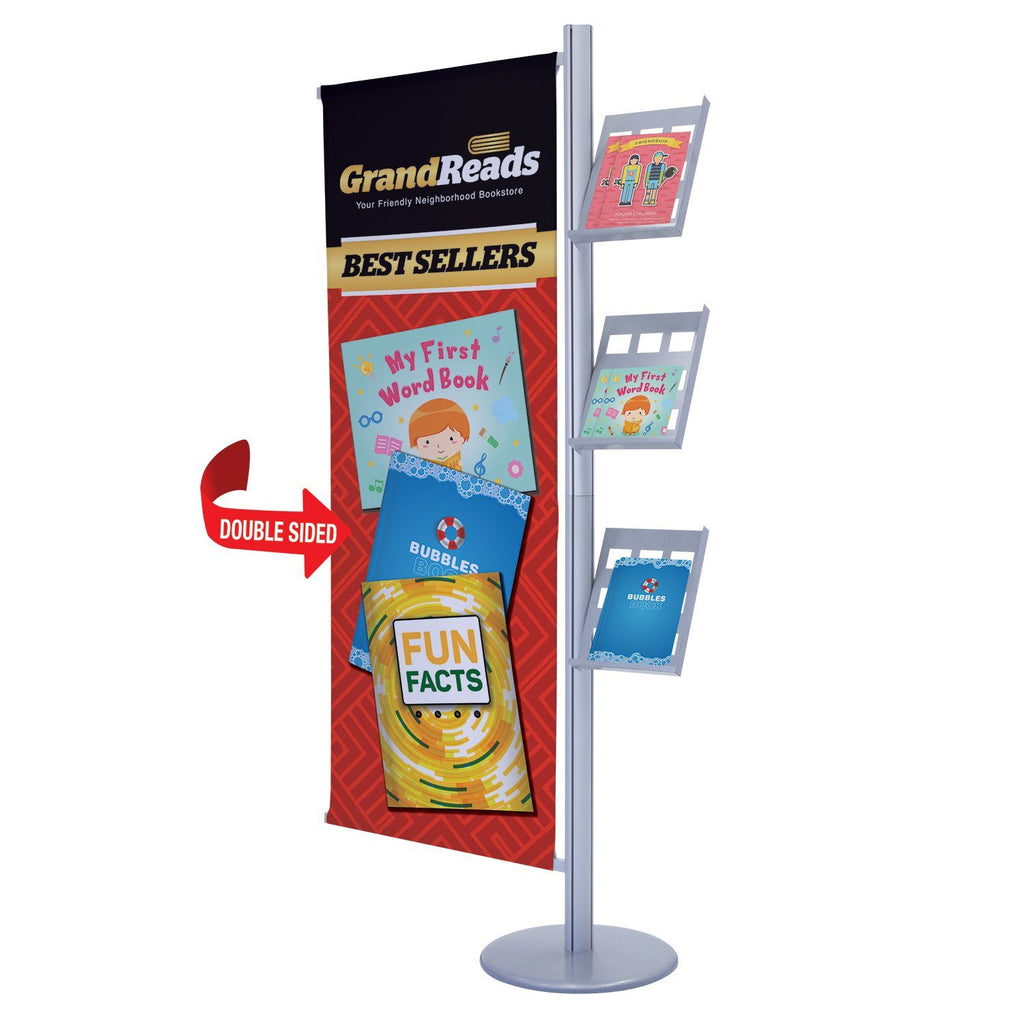 Combination Literature Display & Banner Stand