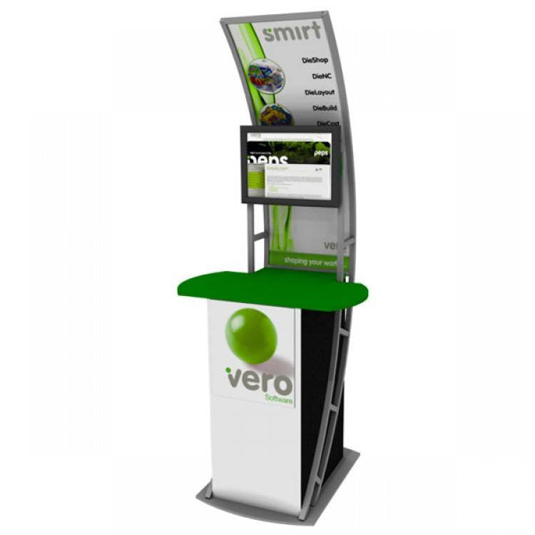 Trade Show Booth Kiosks : Exhibition tv display stand portable trade show kiosk