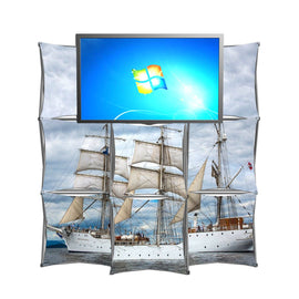 8' Montage Pop Up Monitor Display, Ships
