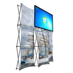 8' Montage Pop Up Monitor Display, Side View, Ships