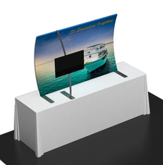 Tension Fabric Table Top Display with Monitor Mount
