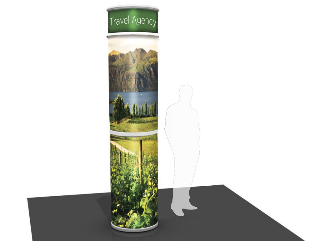 Round Column With Full Graphic Wrap