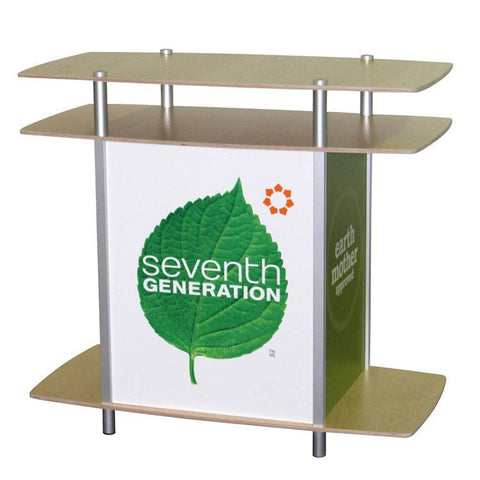 "46"" Rectangular Pedestal with Two Tier Counter - Godfrey Group"