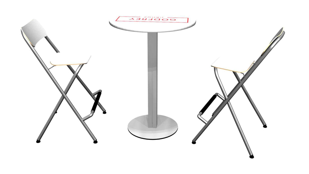 Round Conference Table With Two Chairs