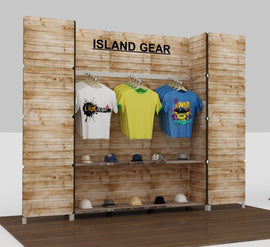 10' U Shaped Printed Slatwall Display