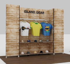 10' U Shaped Printed Slatwall Display - Godfrey Group