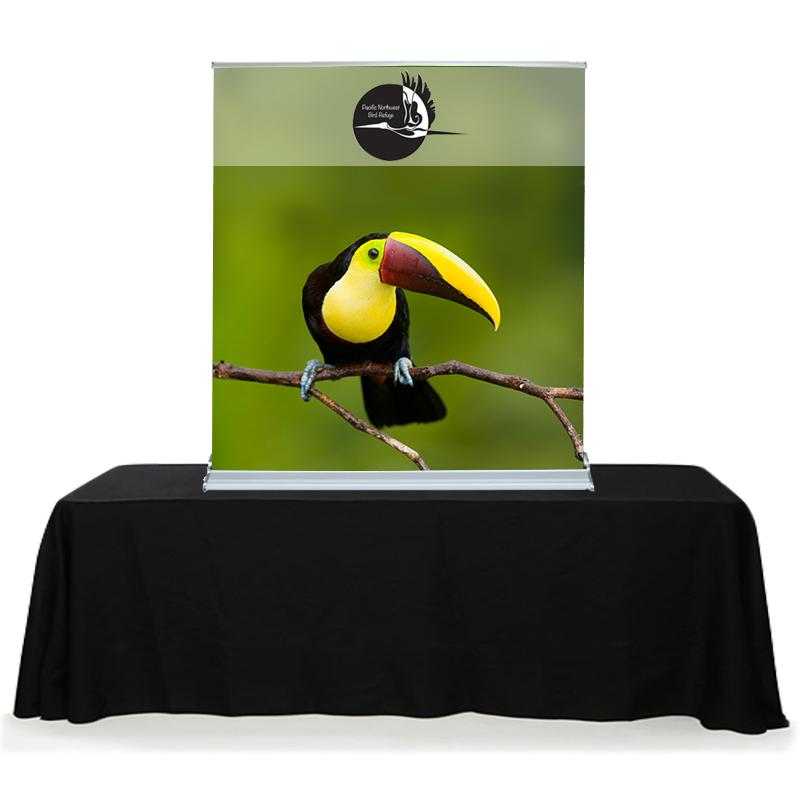 Table Top Retractable Displays In Four Sizes