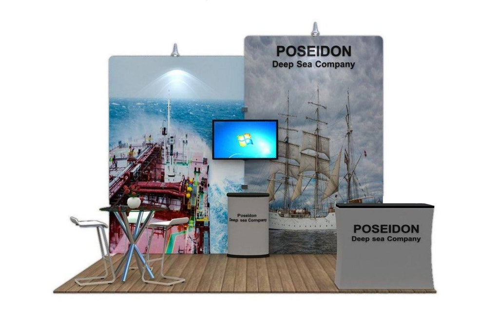 Exhibition Booth Stand : Fabric exhibition booth stand with monitor mount u godfrey group