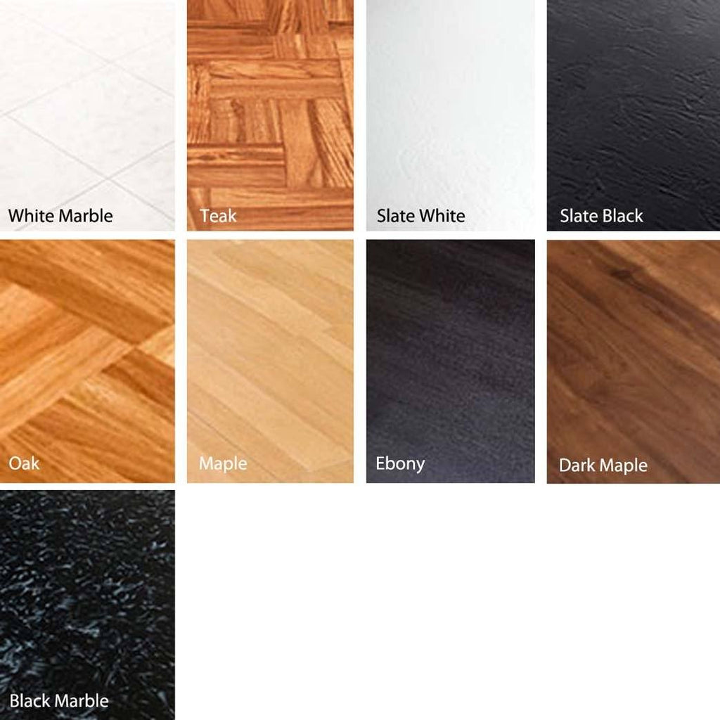 Interlocking Faux Woodgrain, Marble, and Slate Tiles