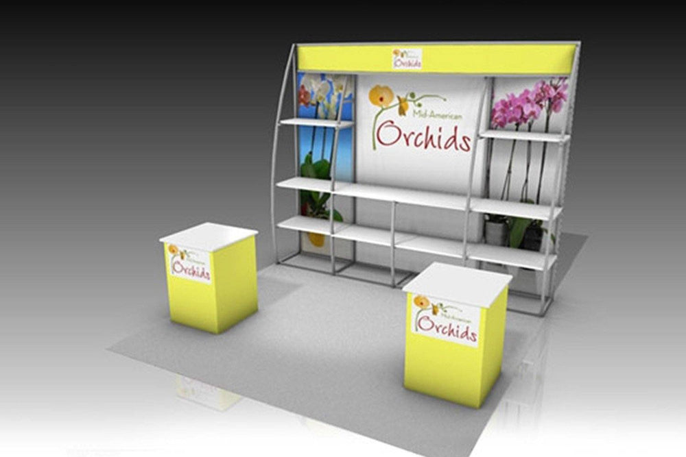 Trade Show Booth With Shelves : Custom trade show display gallery godfrey group