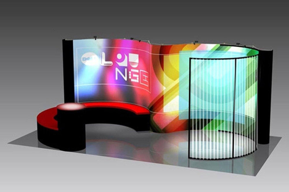 Trade Show Booth Lounge : Custom trade show display gallery godfrey group