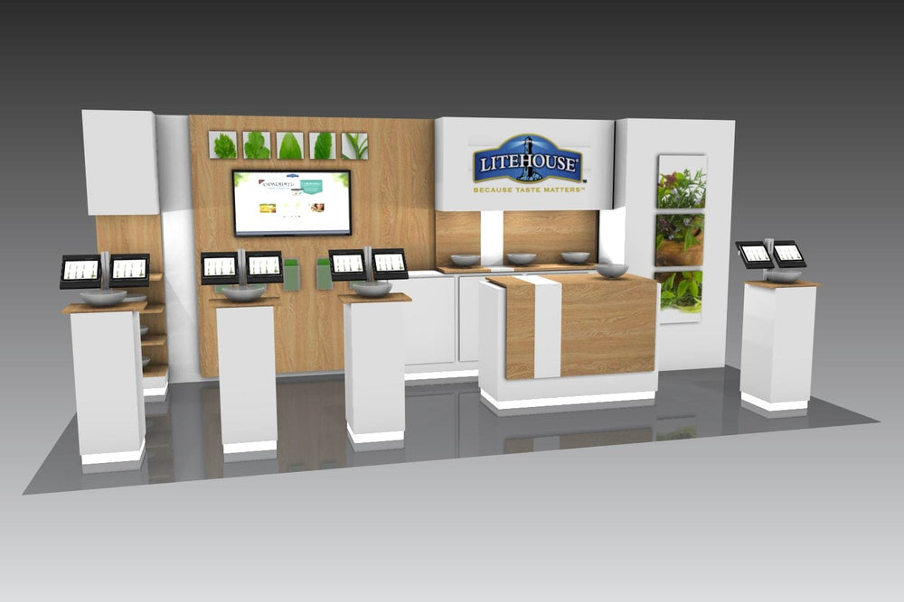 Trade Show Booth Graphics : Custom trade show display booth for island kit is