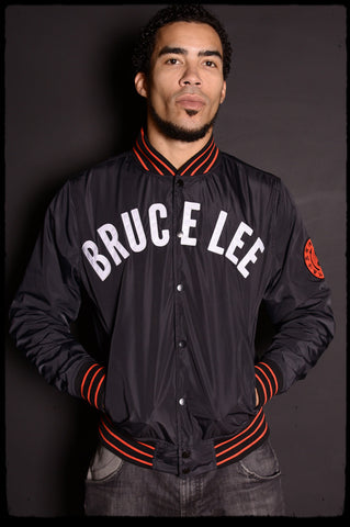 Roots of Fight Bruce Lee Stadium Jacket Front