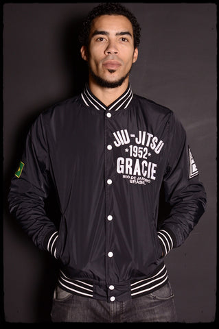 Roots of Fight Gracie Jiu Jitsu Stadium Jacket Front