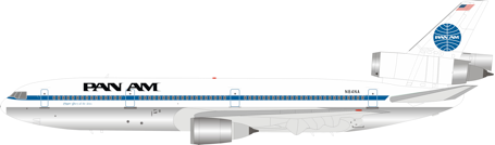 Inflight200 Pan Am McDonnell Douglas DC-10-30 N84NA Polished With Stand IFDC10PA1019P PRE-ORDER