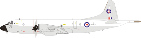 Inflight200 New Zealand - Air Force Lockheed P-3K Orion NZ4203 With Stand IFP3RNZAF12 PRE-ORDER