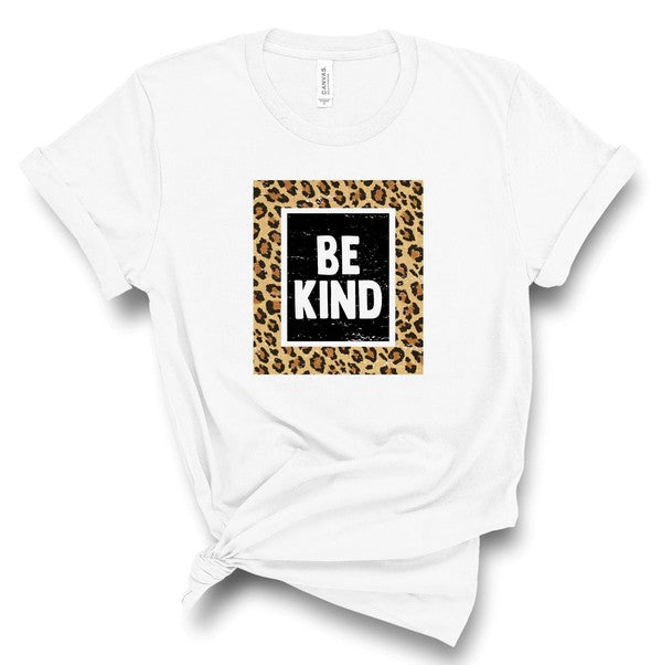Be Kind Leopard Tee