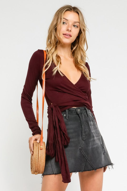 Plum Wrap Top