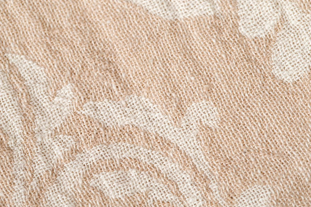 "PATTERNED Turkish Towel ""Peshtemal"" - Vintage - Beige"