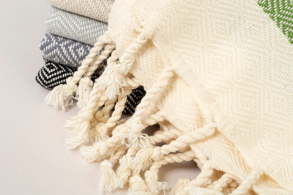 Herringbone Light Cotton Throw Blanket 180 x 230